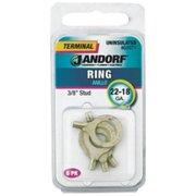 Jandorf Specialty Hardw 60971 Uninsulated Ring Terminal - 22-18 ga., 0.38 in. Stud