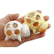 2 Sheep Squishy Blob Mesh Ball with Soft Web - Squishy Fidget Ball Lamb Stress Ball Cute Easter