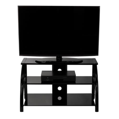 Calico Designs Stilleto Black TV Stand Stilleto TV Stand Black / Black Glass