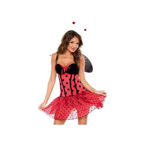 3 Pc Lady Bug Cutie Costume Coquette M6118 Red/Black