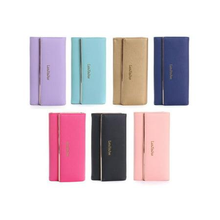 New Simple Lady Women Long Wallet Credit Card Holder Purse Folding Clutch Bag ()