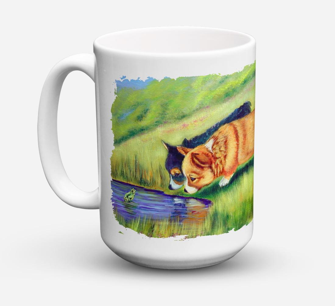 Corgi Dishwasher Safe Microwavable Ceramic Coffee Mug 15 ounce 7292CM15