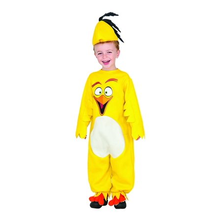 Angry Birds Movie Chuck Romper Toddler Costume 2T - 2-7 Angry Birds Halloween