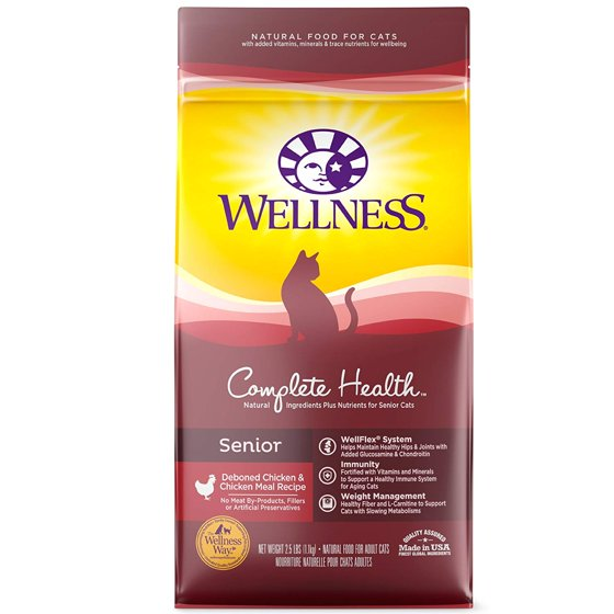 Wellness Complete Health Natural Dry Cat Food Senior Chicken