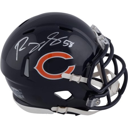 Autographed Mlb Mini Helmets - Roquan Smith Chicago Bears Autographed Riddell Speed Mini Helmet - Fanatics Authentic Certified