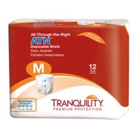 Tranquility ATN Heavy Absorbency Adult Incontinent Brief 2185 Medium Pack of 12, White