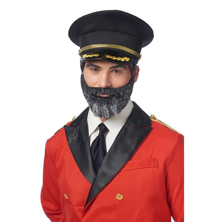 Captain Obvious Moustache and Beard Adult Costume Accessory Set - Costume Beard