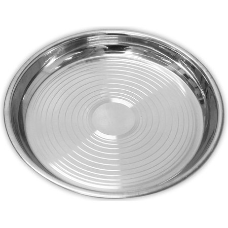8 Inch Diameter Stainless Steel Plate With Circular Etched Design