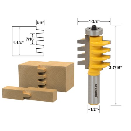Reversible Finger Joint Glue Joint Router Bit 1 2 Shank Yonico 15131