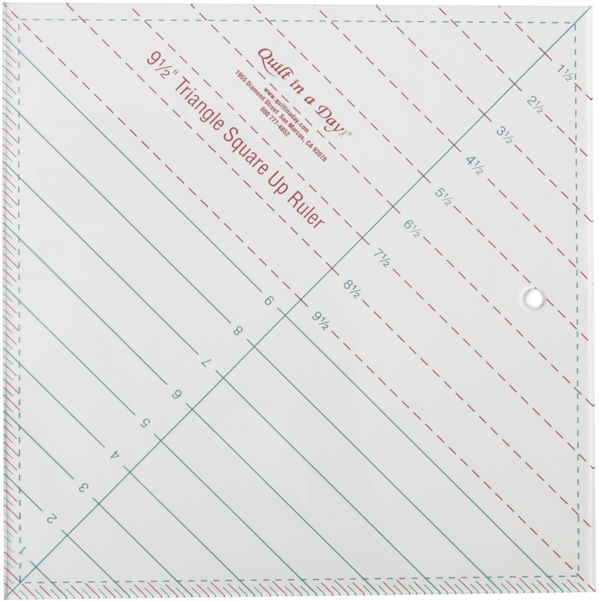 "Quilt In A Day Triangle Square Up Ruler-9-1/2""X9-1/2"""