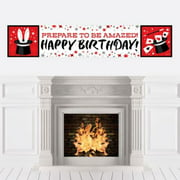 Ta-Da, Magic Show - Magical Birthday Party Decorations Party Banner