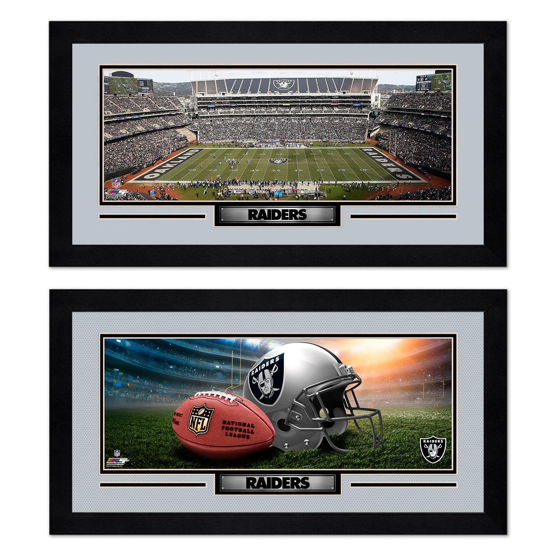 Oakland Raiders 7'' x 13'' Two Miniframe Bundle - No Size