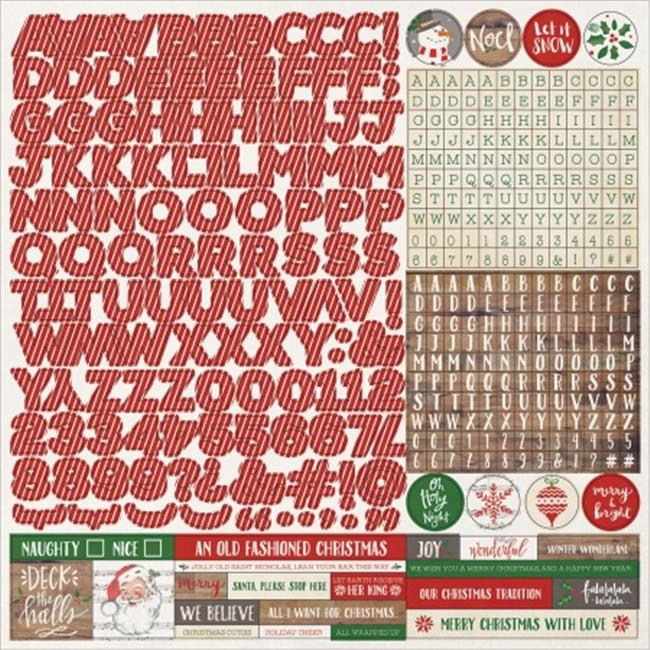 Photo Play Paper DSSTK-2013 Dear Santa Stickers - Alpha