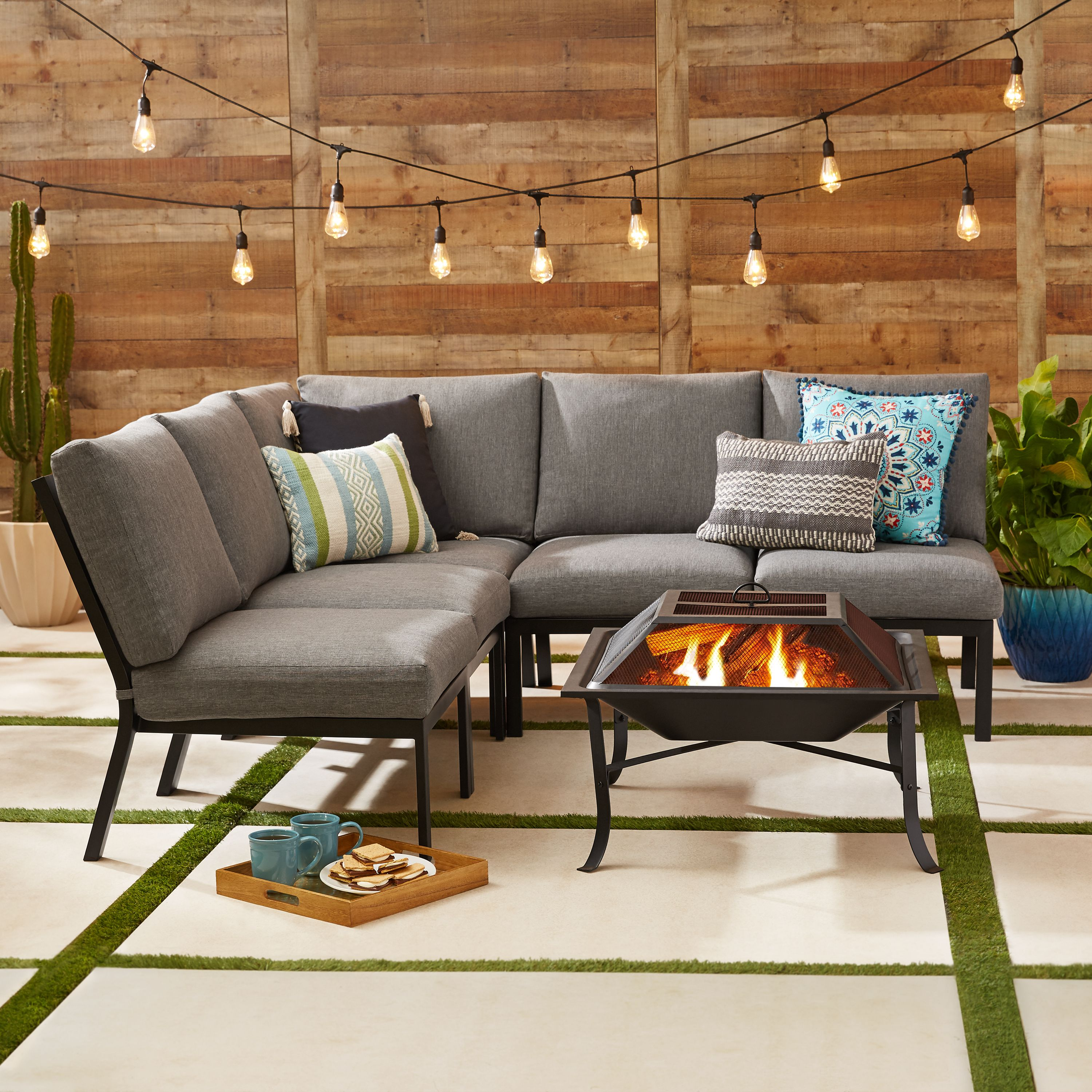Mainstays Greyson Square 5pc Sectional