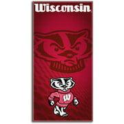 Wisconsin Badgers NCAA Emblem Style 30x60 Fiber Reactive Cotton Beach Towel