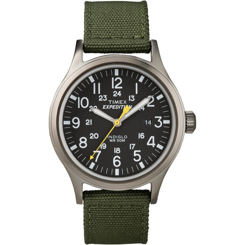 Timex Men's Expedition Scout Watch, Green Nylon Strap