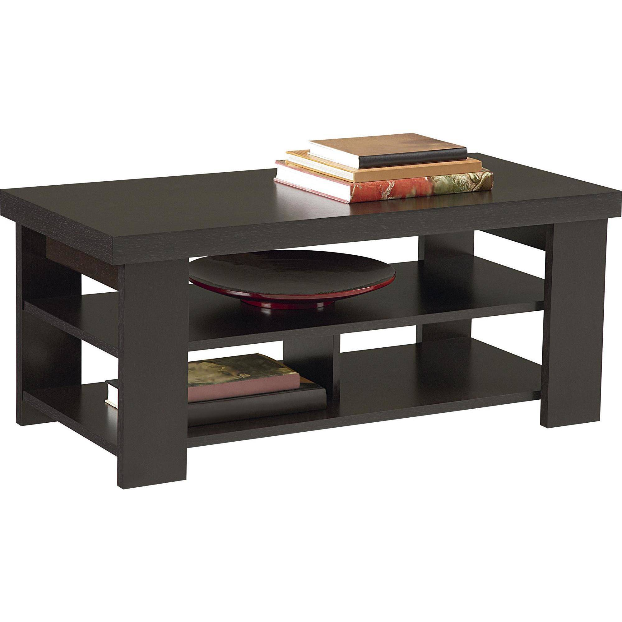 ameriwood home jensen coffee table, espresso - walmart