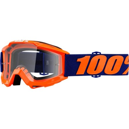 100% Accuri Origami Youth MX Offroad Goggles Orange/Blue/Clear Lens