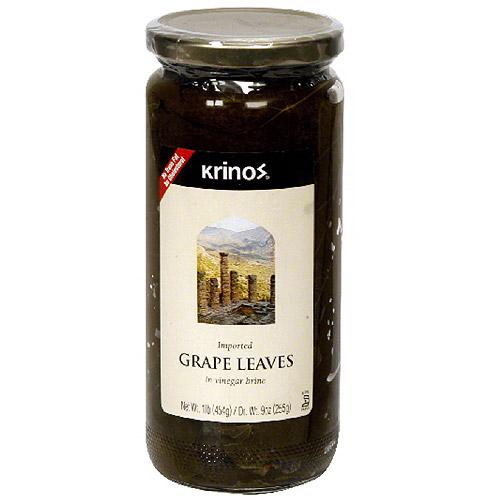Krinos Grape Leaves in Vinegar Brine, 16 oz, (Pack of 6)