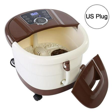Oval Soaker Acrylic Tub (Sonew Portable Foot Spa Bath Massager Bubble Heat Soaker Vibration Pedicure Soak Tub US Plug 110V, Pedicure Tub,Foot Spa Tub)