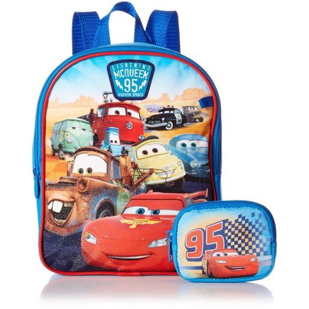 Cars Mini Backpack (Disney Boys' Cars Mini Backpack with Utility Case)