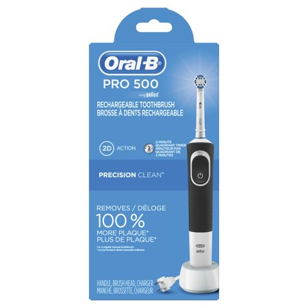 Oral-B Pro 500 Precision Clean Electric Rechargeable Toothbrush, powered by