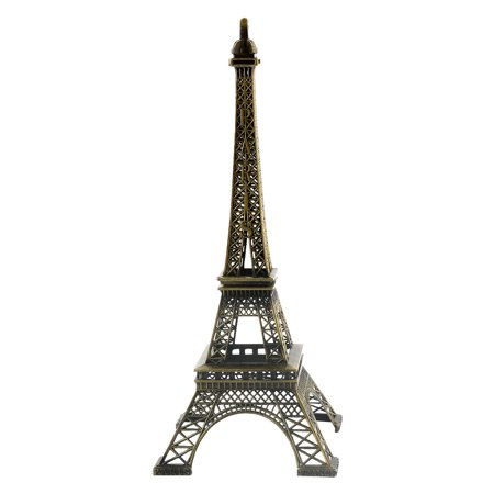 Eiffel Tower Decoration 12.6 Inch Big Paris Eiffel Tower Model Bookshelf Dresser Bronze - Paris Decorations