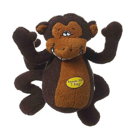 Multipet Deedle Dude Monkey Musical Dog Toy (Dog Toys Sale)