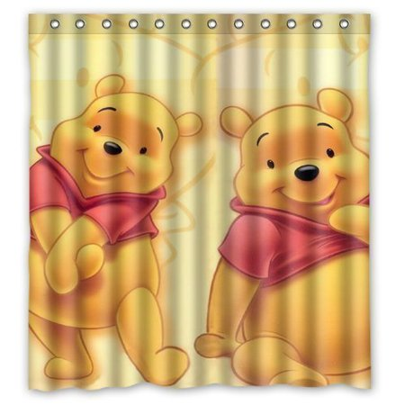 Ganma Winnie The Pooh Painting Shower Curtain Polyester Fabric Bathroom Shower Curtain 66x72 (Winnie The Pooh Shower)