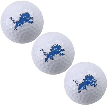 Detroit Lions Team Logo Ball - McArthur Detroit Lions 3-Pack of Team Logo Golf Balls - No Size