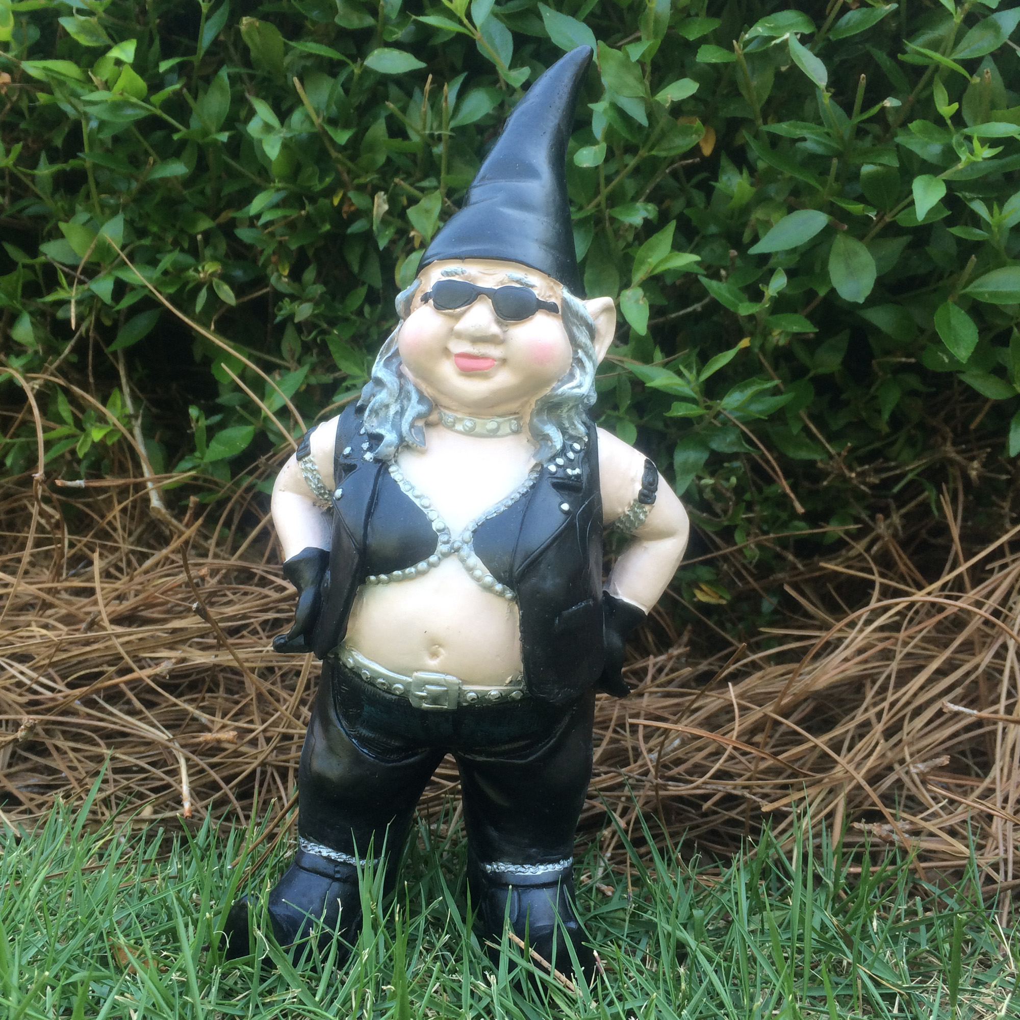 """Homestyles Nowaday Gnomes Biker Gnomes """"Biker Babe the Gnome"""" Garden Girl Gnome... by"""