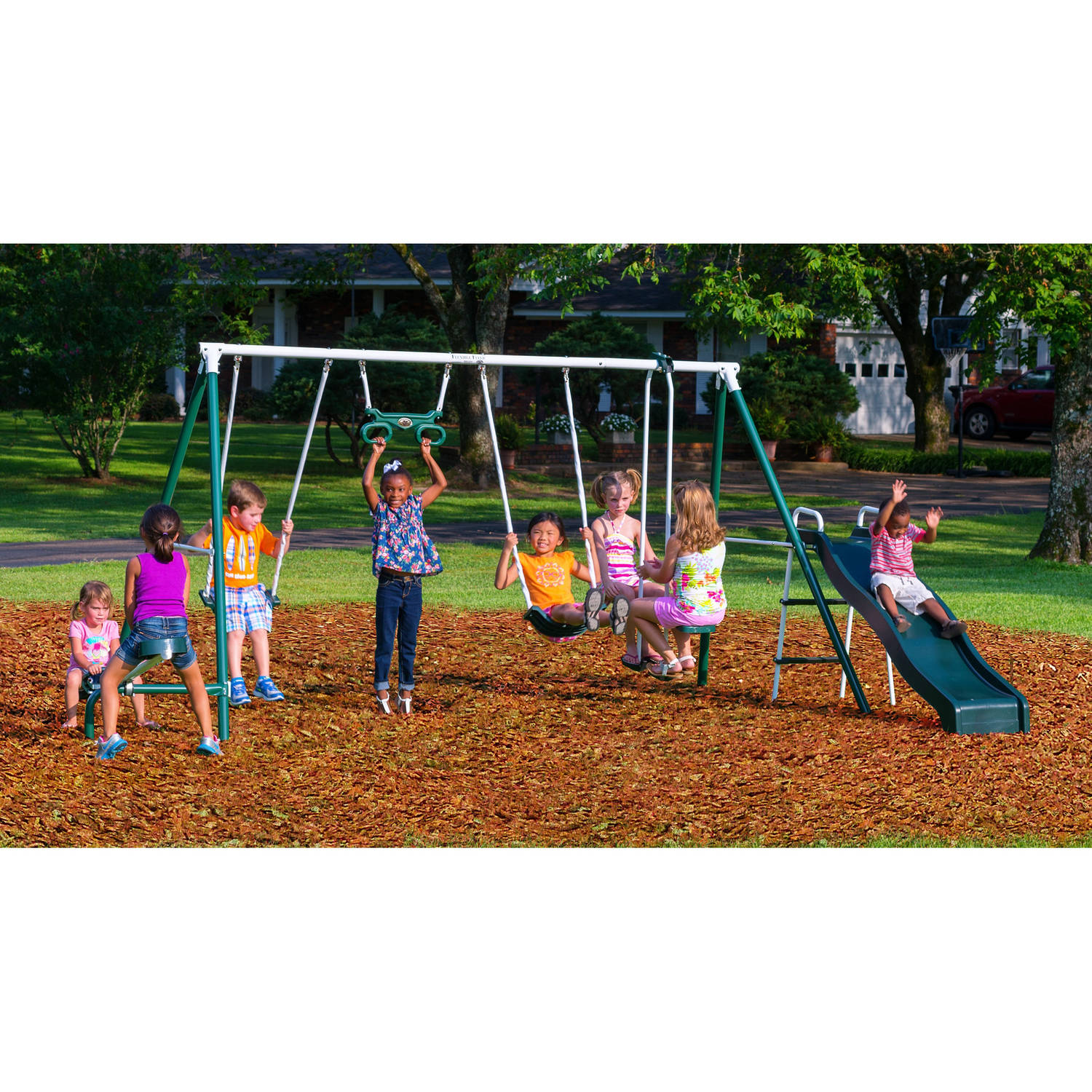 Flexible Flyer Backyard Swingin Fun Metal Swing Set Frodo Fullring Co
