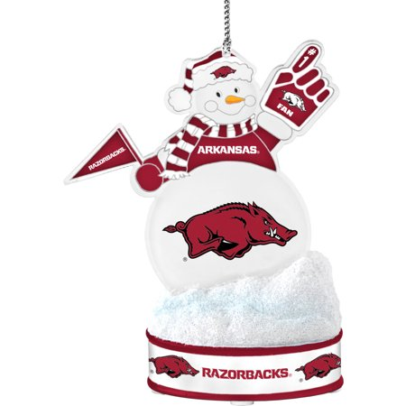 - Topperscot by Boelter Brands NCAA LED Snowman Ornament, University of Arkansas Razorbacks