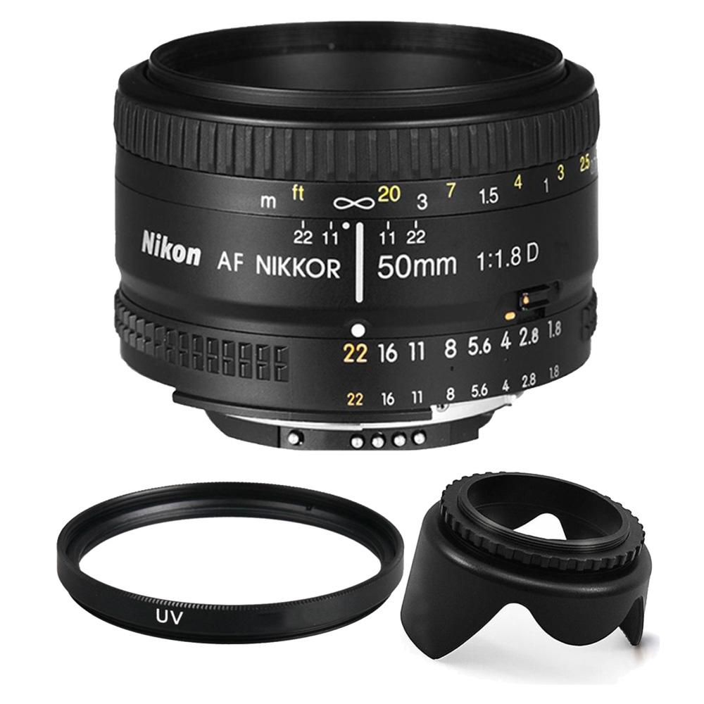 Nikon AF FX NIKKOR 50mm F/1.8D Prime Lens With Accessory Kit