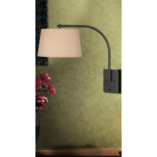 Kenroy Home Sweep Wall Swing Arm Lamp, Oil Rubbed Bronze