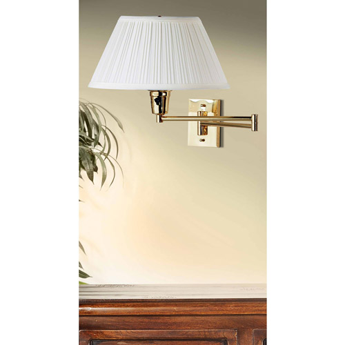 Kenroy Home Element Wall Swing Arm Lamp, Polished Brass by Kenroy Home