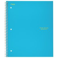 """Five Star Trend Wirebound Notebook, 3 Subject, College Ruled, 11"""" x 8 1/2"""", Teal (72462)"""