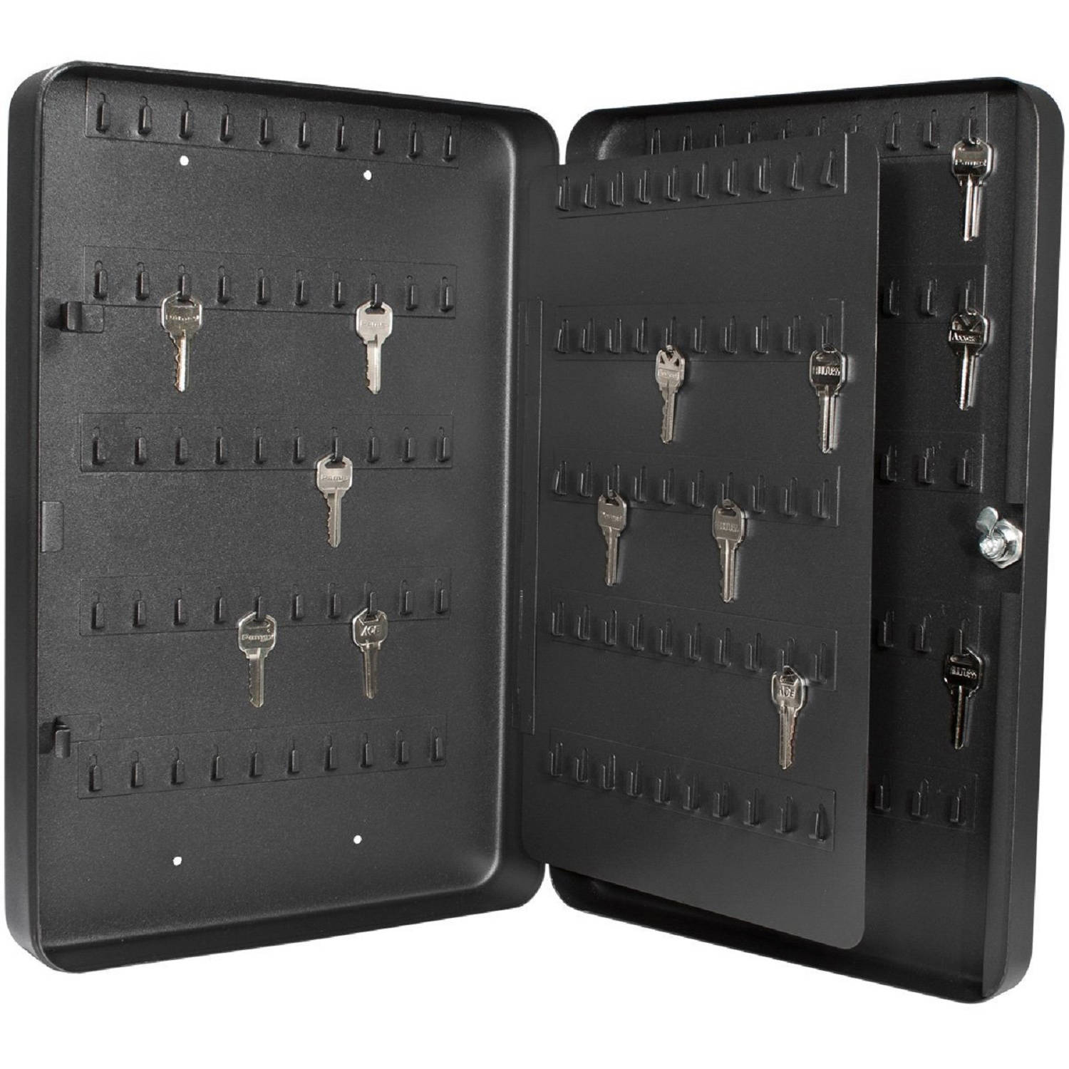 Barska 200 Keys Heavy Duty Lock Box with Key Lock, Black