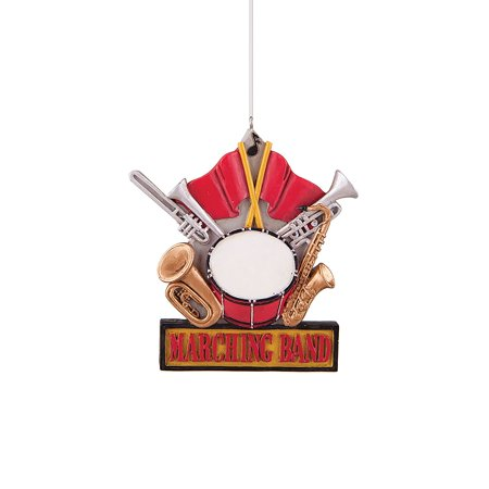 - 4-in. Resin Ornament, Marching Band, The Size is: 0.25x4x3.75 By GII from USA