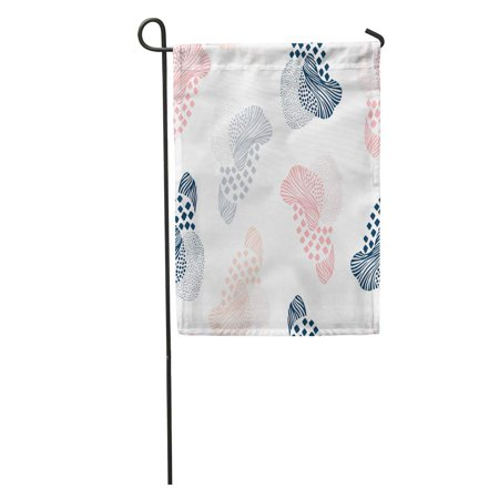 SIDONKU Pink Baby Abstract Cool Creative Doodle Dot Form Fun Funky Garden Flag Decorative Flag House Banner 12x18 inch (Forms Dot)