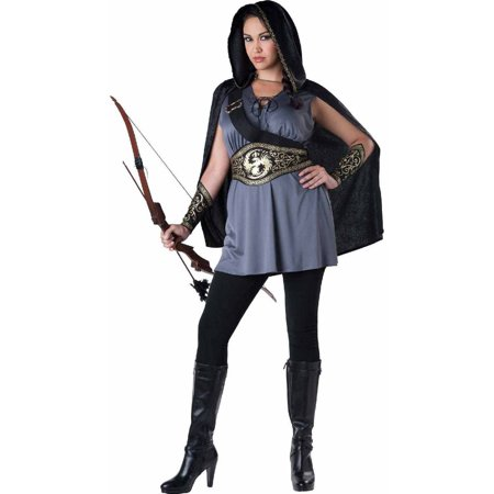 Huntress Dress Women's Adult Halloween Costume](Hooded Huntress Child Costume)