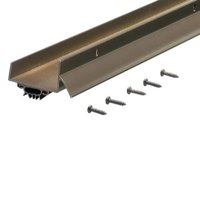 """M-D Products 69554 36"""" Bronze Anodized U-Shaped Door Bottom with Drip Cap"""