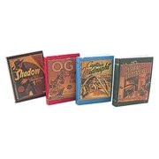 Dollhouse Antique Books Detective 4Pcs