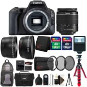 Canon EOS Rebel 200D / SL2 24.2MP Digital SLR Camera Black EF-S 18-55mm Lens All You Need Top Accessory Kit