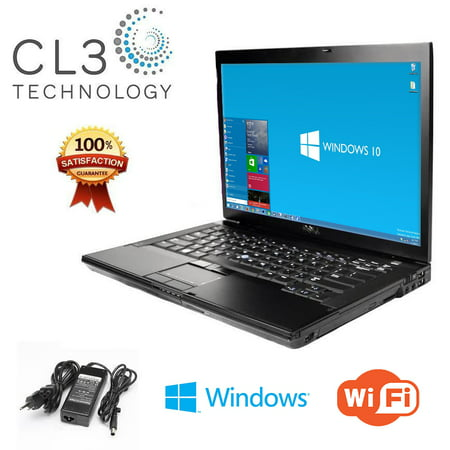 Dell Latitude E6500 Windows 10 Professional Core 2 Duo 2.26GHZ 80GB HD 4GB RAM 15.4 Widescreen Display Refurbished ()