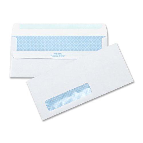 Business Source Self-Seal Envelopes, Standard Window, No. 10 ,4-1/2''x9-1/2'', 500 per Box, White