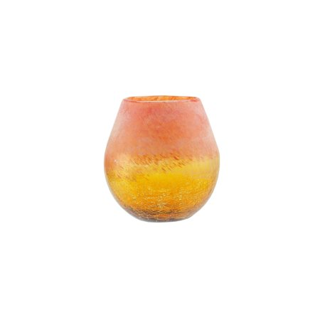 (Northlight Seasonal Crackled and Coral Frosted Hand Blown Glass Vase)