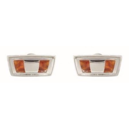 Go-Parts - PAIR/SET - OE Replacement for 2007 - 2009 Saturn Aura Turn Signal Light Assemblies / Lens Cover - Front Left & Right (Driver & Passenger) Side - (Gas Hybrid) Replacement For Saturn Aura (Humphrey Gas Lights)