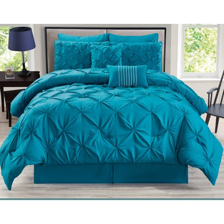 8 Piece Rochelle Pinched Pleat Comforter