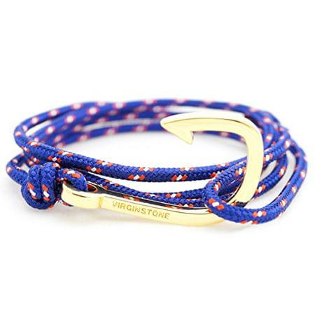 VIRGINSTONE Gold Plated Fish Hook Bracelets on Colorful